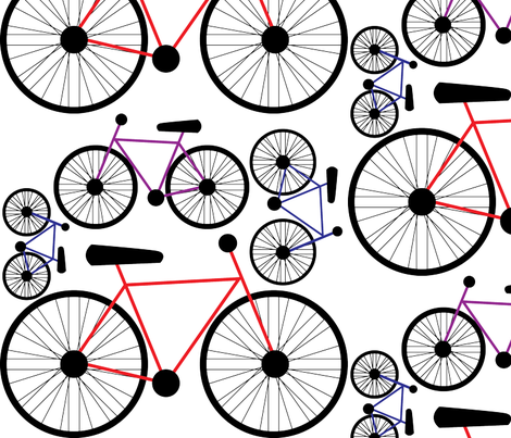 Bicycle fabric by kiwikewi on Spoonflower - custom fabric