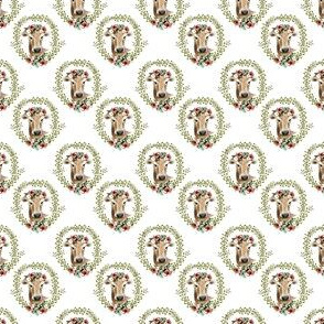 "1.5"" Floral Cow - White"