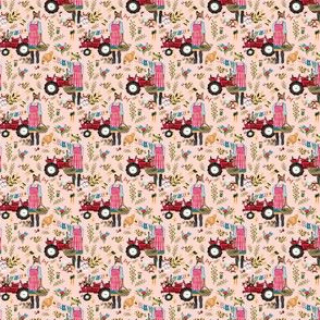 "1.5"" Floral Farm Life - Peachy Pink"