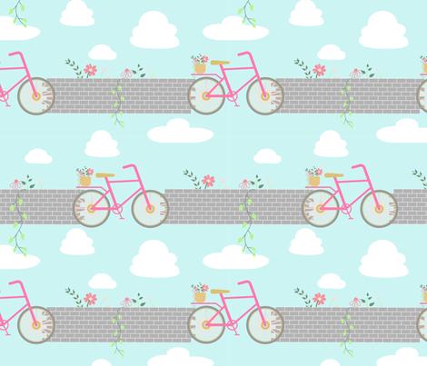 Cycling fabric by farijazz on Spoonflower - custom fabric