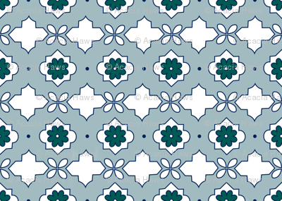 Moroccan Tiles in Sea Glass