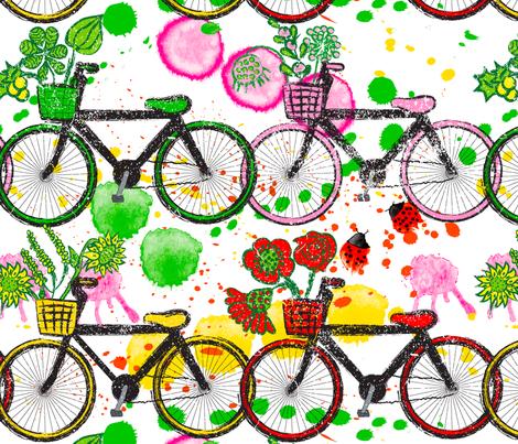 Bicyclette Ballad fabric by orangefancy on Spoonflower - custom fabric
