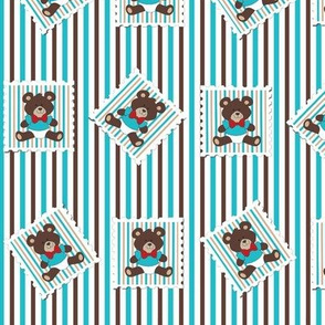 Classic Bear postal stamps