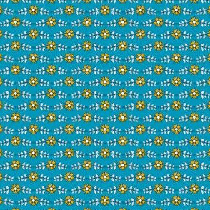 ditsy flowers // blue // little matryoshka collection