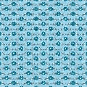 ditsy flowers // light blue // little matryoshka collection