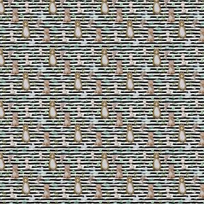 "1.5"" Hello Forest Animals - Black & White Stripes"