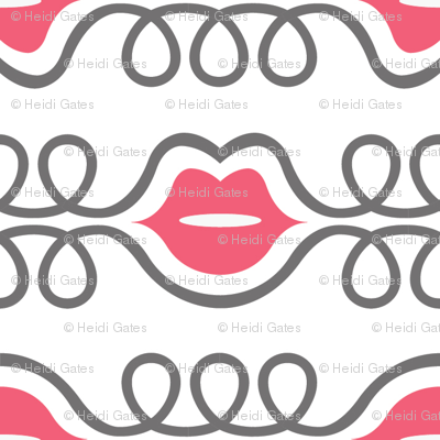 LIPS pink grey small