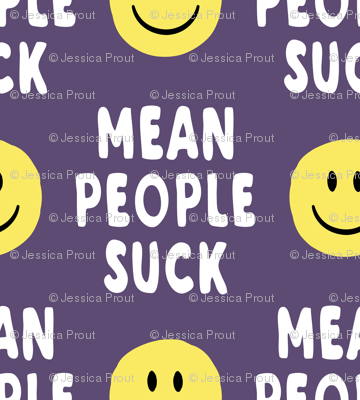 mean people suck - dark purple vertical