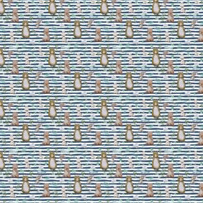 """1.5"""" Hello Forest Animals - Dark Blue Stripes"""