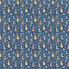 """1.5"""" Hello Forest Animals - Dark Blue"""