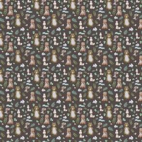 """1.5"""" Hello Forest Animals - Dark Tan"""