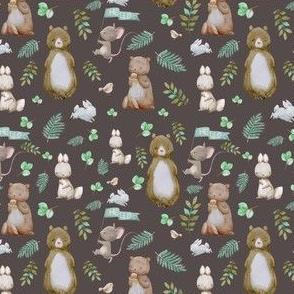 """4"""" Hello Forest Animals - Dark Tan"""