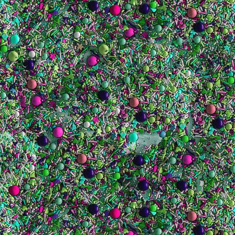Sprinkles in Green fabric by mscloud on Spoonflower - custom fabric