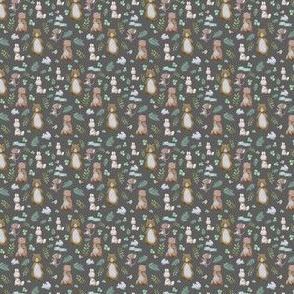 """1.5"""" Hello Forest Animals - Dark Grey"""