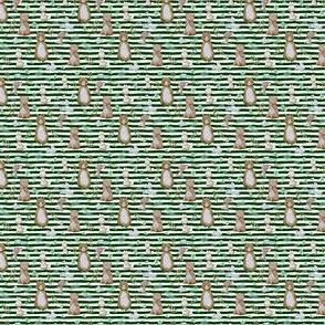 "1.5"" Hello Forest Animals - Hunter Green Stripes"