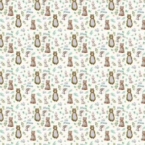 "1.5"" Hello Forest Animals - Ivory Stripes"