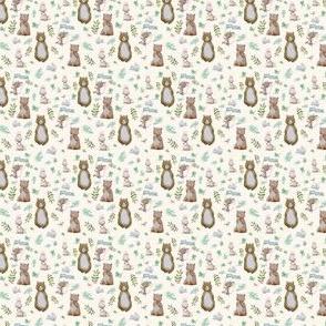 "1.5"" Hello Forest Animals - Ivory"