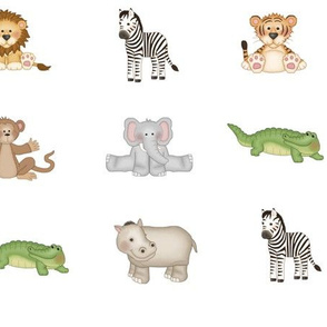 Safari Animals Baby Nursery