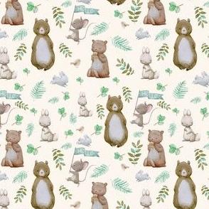"4"" Hello Forest Animals - Ivory"