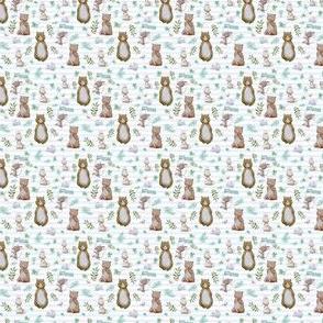 "1.5"" Hello Forest Animals - Light Blue Stripes"