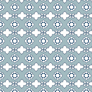 Moroccan Tiles in Sea Breeze