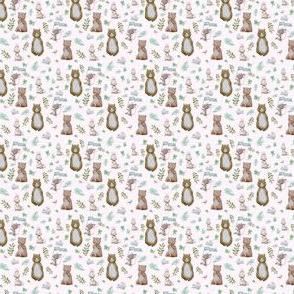 """1.5"""" Hello Forest Animals - Pink"""