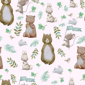 """8"""" Hello Forest Animals - Pink"""