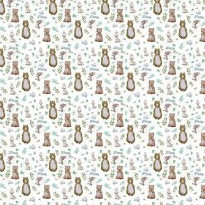 """1.5"""" Hello Forest Animals - White"""