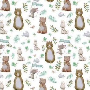 """4"""" Hello Forest Animals - White"""
