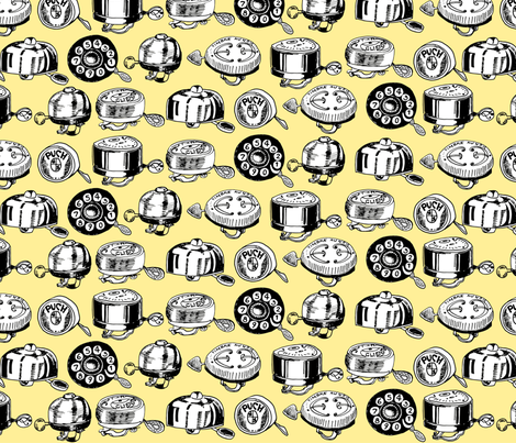 Cycle Bells fabric by freudenwerkstatt on Spoonflower - custom fabric