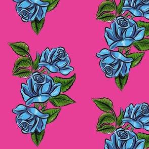Pink blue rose