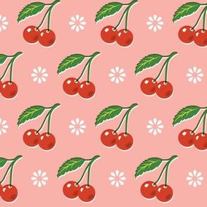 Cherry Bomb* (Mona) || cherry cherries fruit leaves flowers nature sour pie summer cobbler maraschino pastel vintage kitchen