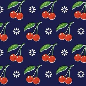 Cherry Bomb* (Jackie Blue) || cherry cherries fruit leaves flowers nature sour pie summer cobbler maraschino vintage kitchen