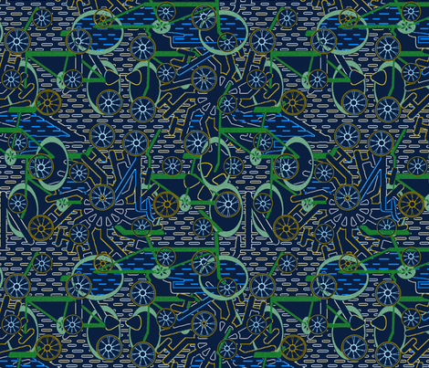 cycle mash-up fabric by janet_hild on Spoonflower - custom fabric