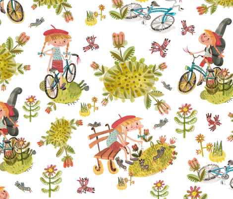Like bike fabric by pikku_susi on Spoonflower - custom fabric