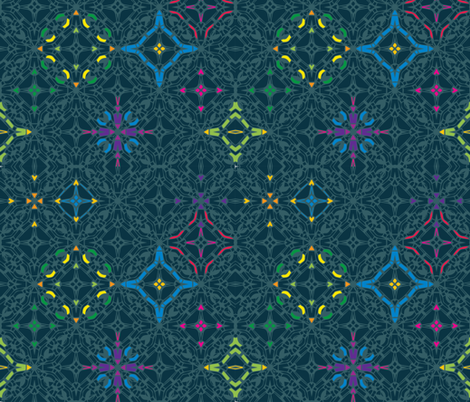 Festive geometry fabric by kukileaf on Spoonflower - custom fabric