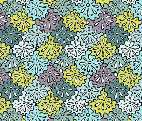 bicycle cogs as flowers col 7 fabric by pookeek on Spoonflower - custom fabric