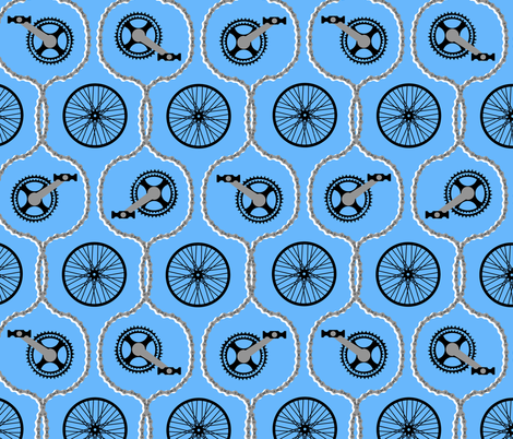 bike chain ogee fabric by b0rwear on Spoonflower - custom fabric