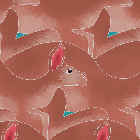 Kangaroo Gang Red fabric by eclectic_house on Spoonflower - custom fabric