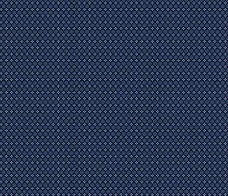 Suki Blue Little PRint_Dark_150 fabric by robinpickens on Spoonflower - custom fabric