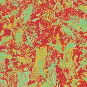 red jade ochre confetti