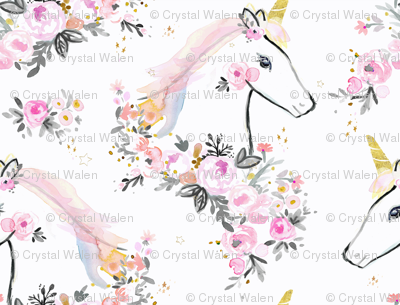sweet unicorn floral