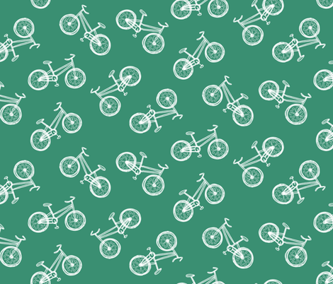 Chalkboard Bicycles fabric by inklaura on Spoonflower - custom fabric