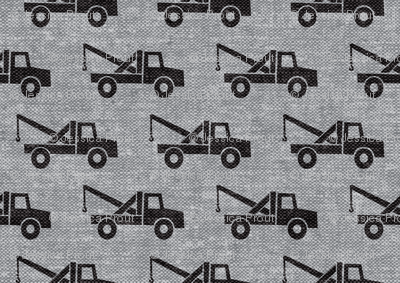 tow trucks - black on grey W