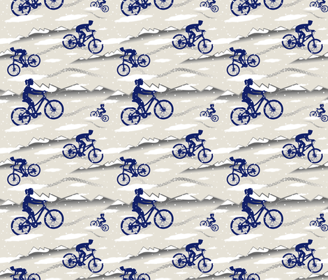 Riding through the Mountains fabric by vintage_style on Spoonflower - custom fabric