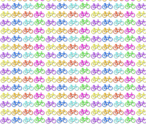 neon bikes round2 fabric by handmade_fun on Spoonflower - custom fabric