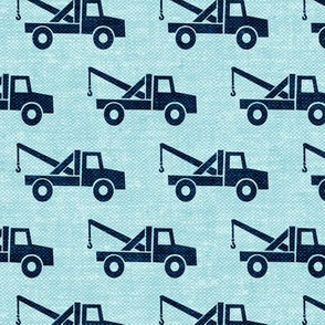 tow trucks (blue on blue) W