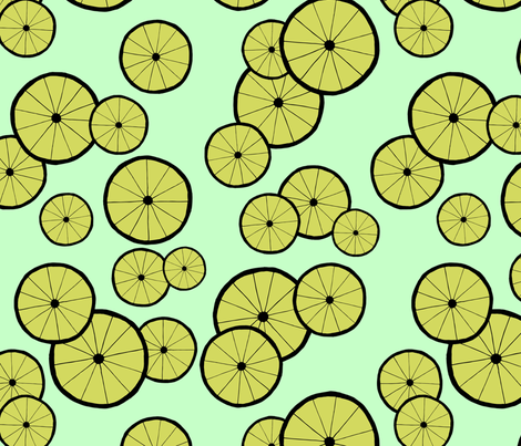 Citrus Cycle Blue fabric by moongoose_designs on Spoonflower - custom fabric