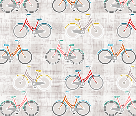bicycle bicycle fabric by mrshervi on Spoonflower - custom fabric