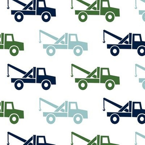 tow trucks - multi - navy,blue,green